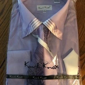 Men's dress shirt with matching tie